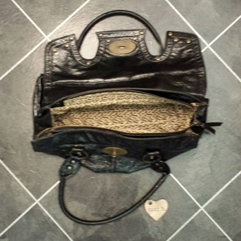 Black Leather Handbag