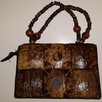 Carved Coconut Shell Purse